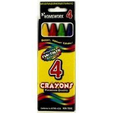 Wholesale 144 Units of Crayons - 4 pk - Boxed - Asst. Colors