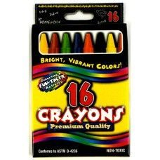 48 Units of Crayons - 16 pk - Boxed - Asst. Colors - Chalk,Chalkboards,Crayons