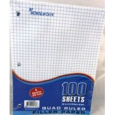 "36 Units of Quad/Graph Filler Paper - 100 sh - 10.5"" x 8"" - Paper"