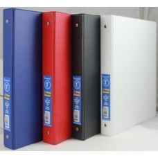 "24 Units of Binder - Vinyl - stiff heavy duty board - 1.5"" - 3 rings - assorted colors - Clipboards and Binders"