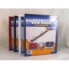 "48 Units of Binder - Clear View Pocket - 1"" - 3 rings - assorted colors - Clipboards and Binders"