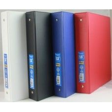 "48 Units of Binder - Vinyl - stiff heavy duty board - 1.5"" - 3 rings - assorted colors - Clipboards and Binders"