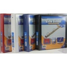 "24 Units of Binder - Clear View Pocket - 1.5"" - 3 rings - assorted colors - Clipboards and Binders"