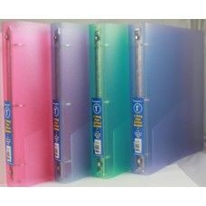 "48 Units of Binder - Flexiable  Glitter vinyl - 1"" - 3 rings - assorted colors - Clipboards and Binders"