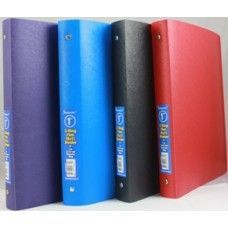 "48 Units of Binder - Flexible vinyl - 1"" - 3 rings - assorted solid colors - Clipboards and Binders"