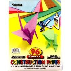 "24 Units of Construction Paper Pack - 96 sh - 12"" x 9"" - Asst. Cls. - Paper"