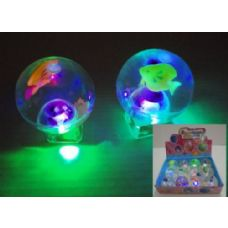 "144 Units of 2.75"" Light Up Bouncy Glitter Ball - Balls"