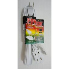 100 Units of  9' White Extension Cord - Chargers & Adapters