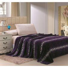 16 Units of Purple Leopard Print Micro Plush Blanket QUEEN SIZE - Fleece & Sherpa Blankets