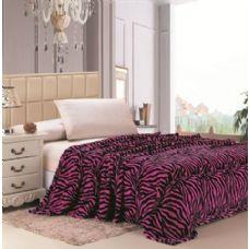 16 Units of Pink Zebra Print Micro Plush Blanket TWIN SIZE - Fleece & Sherpa Blankets