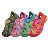 36 Units of Women's Tie-Dyed Sandals - Womens Clogs
