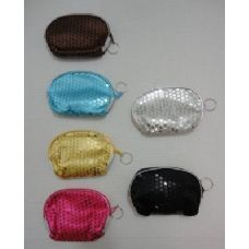 36 Units of Sequin Change Purse - Leather Purses and Handbags