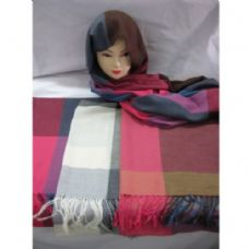 60 Units of Printed Plaid Scarf - Winter Scarves