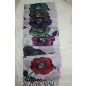 72 Units of Flower Print Winter Scarf - Winter Scarves