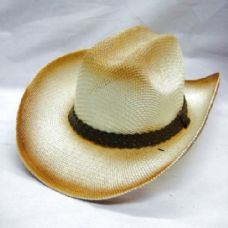 36 Units of COW BOY STRAW HATS - Cowboy & Boonie Hat