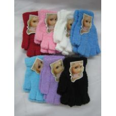 144 Units of Super Fuzzy Fingerless Gloves - Fuzzy Gloves