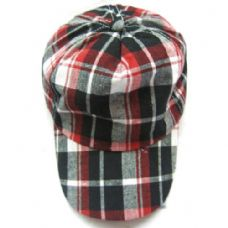 120 Units of Kids Plaid Baseball Cap - Kids Baseball Caps