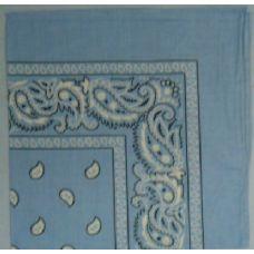 48 Units of Bandana-Light Blue Paisley - Bandanas