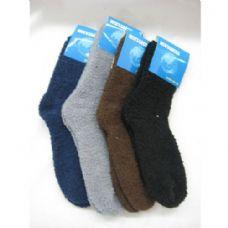 144 Units of Mens Fuzzy Socks Size 10-13 - Womens Fuzzy Socks