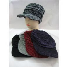 48 Units of Ladies Croche Like Winter Hat - Fashion Winter Hats