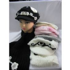 48 Units of Fashion Winter Hat With Matching Scarf For Ladies - Fashion Winter Hats