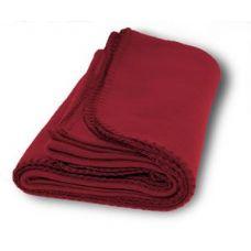 36 Units of Promo Fleece Blankets in Burgundy