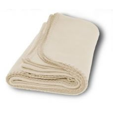 36 Units of Promo Fleece Blankets in Cream