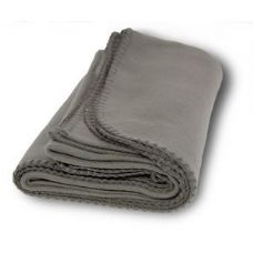 36 Units of Promo Fleece Blankets in Gray