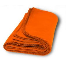 36 Units of Promo Fleece Blankets in Orange