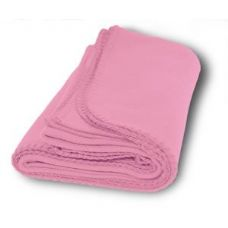 36 Units of Promo Fleece Blankets in Pink