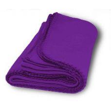 36 Units of Promo Fleece Blankets in Purple