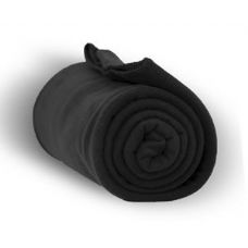 24 Units of Fleece Blankets in Black
