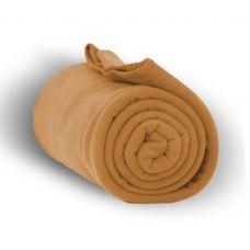 24 Units of Fleece Blankets in Camel