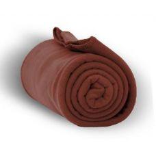 24 Units of Fleece Blankets in Cocoa