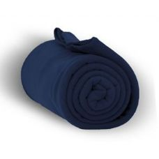 24 Units of Fleece Blankets in Navy