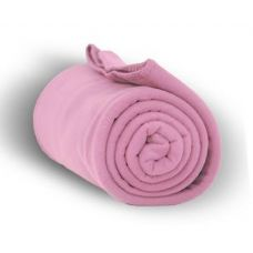 24 Units of Fleece Blankets in Pink