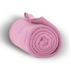 24 Units of Fleece Blankets in Pink