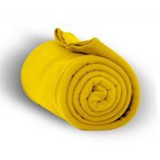 24 Units of Fleece Blankets in Yellow