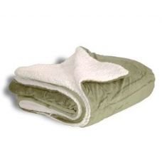 12 Units of Micro Mink Sherpa Blankets in Sage Green