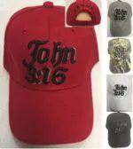 24 Units of John 3:16 Baseball Cap - Baseball Caps/Snap Backs