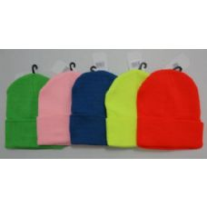 72 Units of Neon/Pastel Knit Toboggan