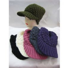 60 Units of Ladies Croche Like Acryic Winter Hat - Fashion Winter Hats