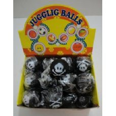 "144 Units of 2.75"" Black Skull & Crossbones Squish Ball - Balls"