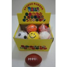 "72 Units of 2.75"" Squish Ball-Assorted Sports - Balls"
