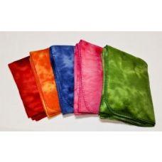 24 Units of Tie Dye Fleece Blanket 50x60