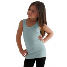 24 Units of Girls Seamless Flat Tanks Tops Youth Size - Girls Tank Tops and Tee Shirts
