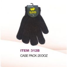 240 Units of Winter Magic Glove Black - Knitted Stretch Gloves