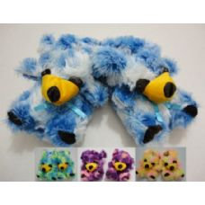 36 Units of Fuzzy Animal Slippers--Multi Color Bear - Women's Slippers