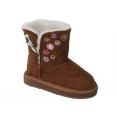 12 Units of Girls Boots Camel Color - Girls Boots