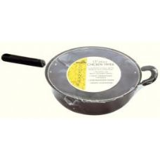 """6 Units of 11"""" (4 QT) CHICKEN FRYER - BLACK - Stainless Steel Cookware"""